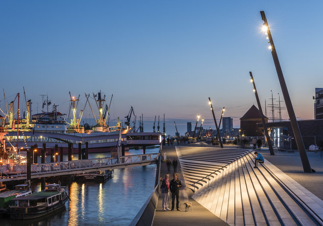 New Port Promenade - Hamburg, Germany