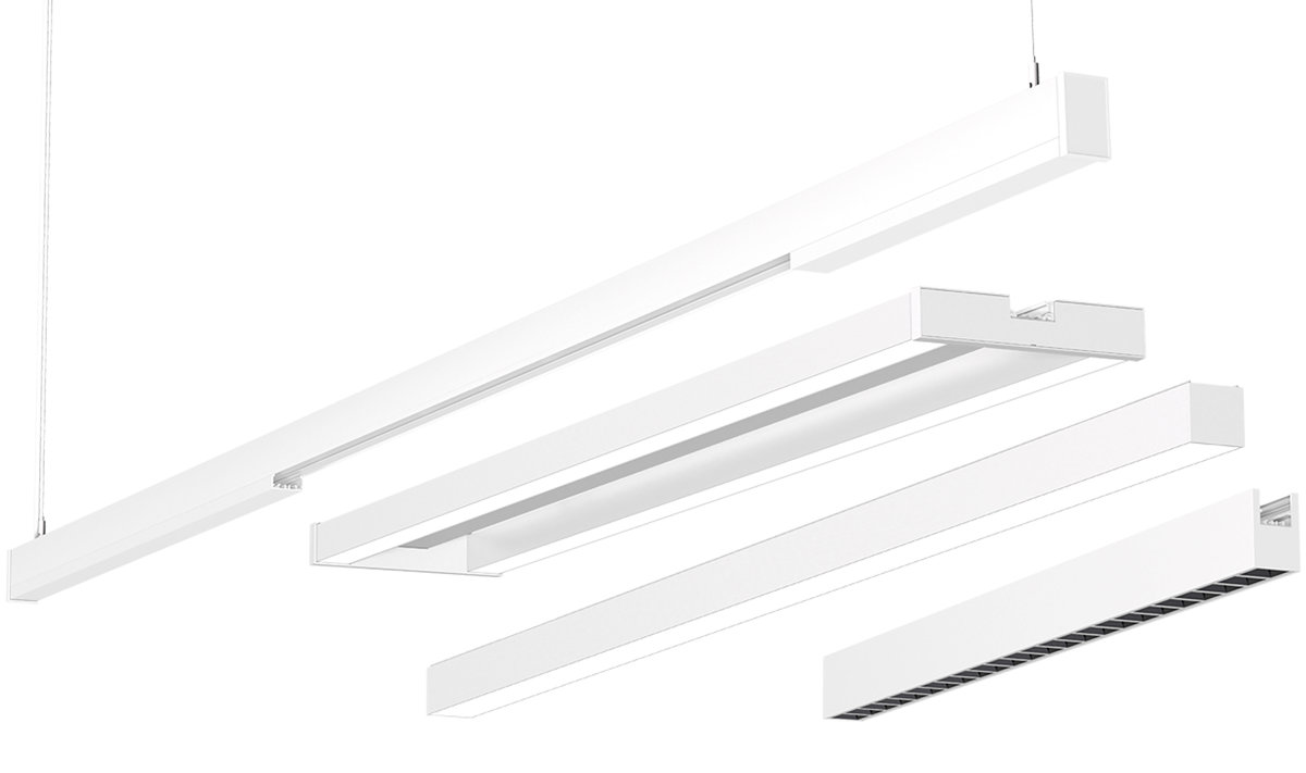Miaura™ - Lighting modules on configurable linear Rail system